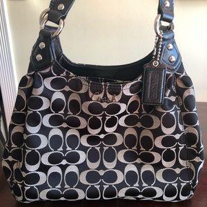 Black Coach Signature Handbag